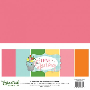 I Love Spring 12x12 / Solids Kit