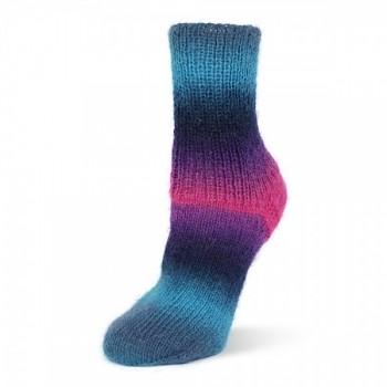 Flotte Socke 4f. Kolibri / 100g / 6211 - modro-tyrkysovo-fialové