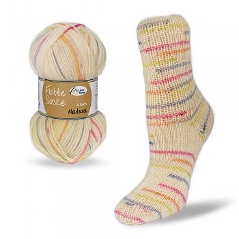Flotte Socke 4f. Natura / 100g / 1570 - béžovo-oranžovo-červeno-žlté