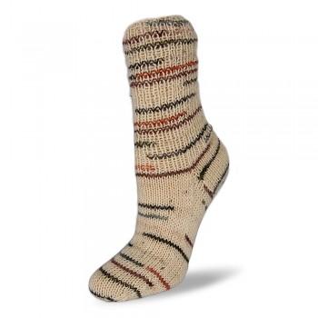 Flotte Socke 4f. Natura / 100g / 1572 - béžovo-hnedé