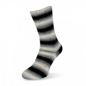 Flotte Socke 4f. Dégradé / 100g / 1460 - čierno-biele