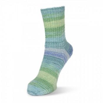 Flotte Socke 4f. Stretch Tutti Frutti (bavlna+vlna) / 100g / 1415 - modro-zelené