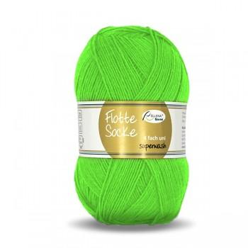 Flotte Socke 4f. 100 g uni / 100g / 995 - neónovo zelená