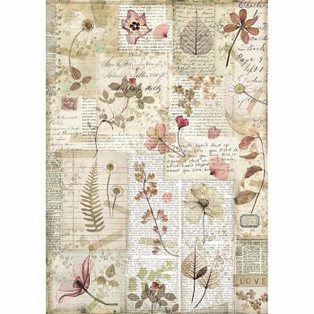 Rice decoupage paper A4 / Pressed flowers