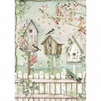 Rice decoupage paper A4 / Nests