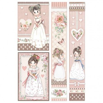 Rice decoupage paper A4 / Little Girl Frames