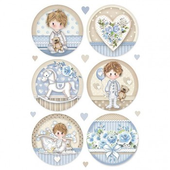 Rice decoupage paper A4 / Little Boy round