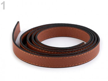 Leatherette tape flat / 15mm x 1,2m / fawn