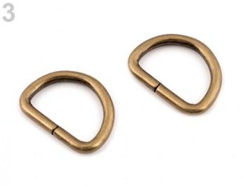 D-Ring Halbring Breite 20 mm für Lederware / 2St.