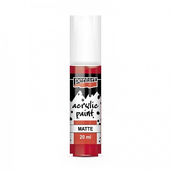 Pentart acrylic paint matte 20 ml / red