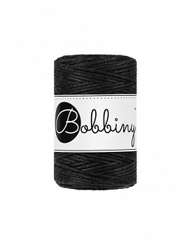Macramé cord / 1,5mm / 100m / Black