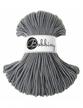 Bobbiny Cotton Cord Junior 3mm / 100m / Steel
