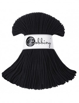 Bobbiny Cotton Cord Junior 3mm / 100m / Black