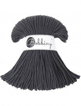 Bobbiny Cotton Cord Junior 3mm / 100m / Charcoal