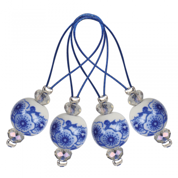 KnitPro Stitch Markers Blooming Blue / 12 St.