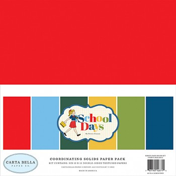 School Days 12x12 / Solids Kit