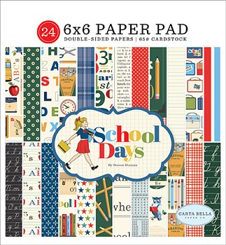 School Days / 6x6 / Sada papierov
