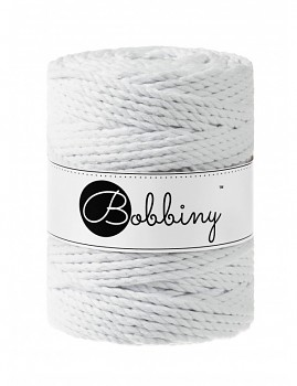 Macramé cord 3ply / 5mm / 100m / White