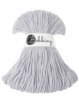 Bobbiny Cotton Cord Junior 3mm / 100m / Light grey