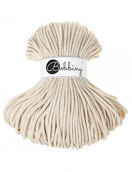 Bobbiny Cotton Cord Premium 5mm / 100m / Golden Natural