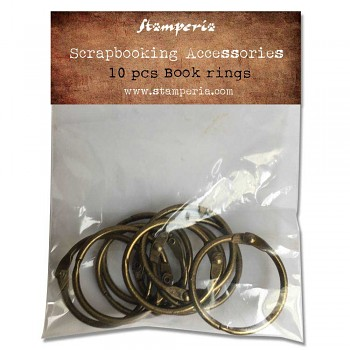 Book Rings 3cm / 10szt / Red