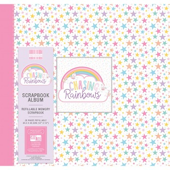"Scrapbook Album 12x12"" - Chasing Rainbows"