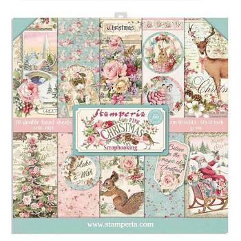 """Pink Christmas / 12x12"""" / Paper Pack"""