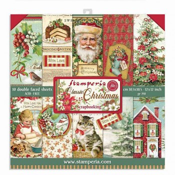 """Classic Christmas / 12x12"""" / Paper Pack"""