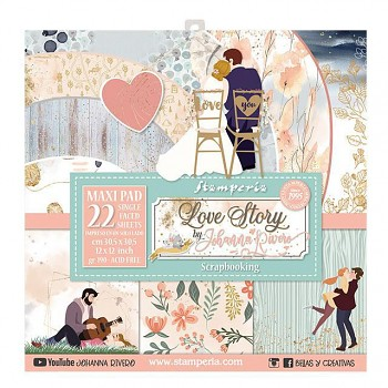 """Love Story - Maxi pad / 12x12"""" / Paper Pack"""