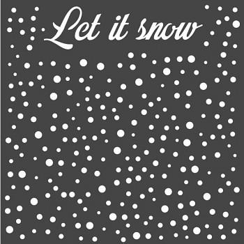 Schablone / 18x18cm / Let's snow