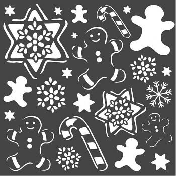 Šablóna / 18x18cm / Gingerbread