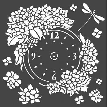 Šablóna / 18x18cm / Clock