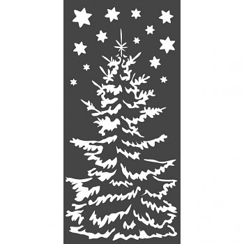 Šablóna / 12x25cm / Christmas tree