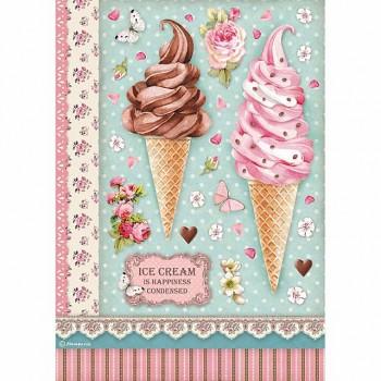 Ryžový papier na decoupage A4 / Ice cream
