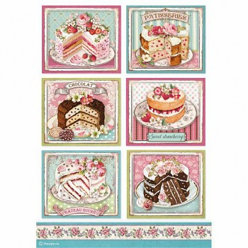 Rice decoupage paper A4 / Patisserie