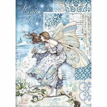 Ryžový papier na decoupage A4 / Fairy in the wind