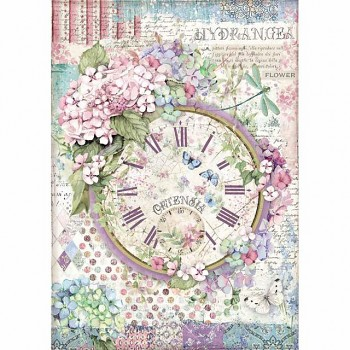Rice decoupage paper A4 / Clock
