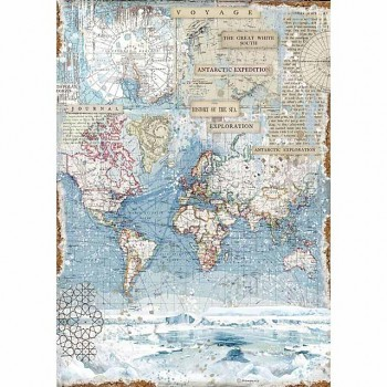 Rice decoupage paper A3 / Antartic exploration