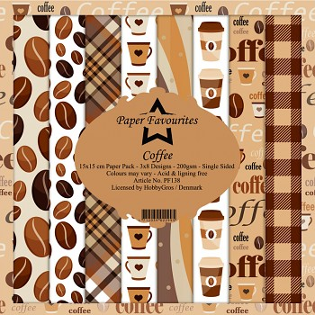 Coffee / 6x6 / 24pcs / Paper Pad
