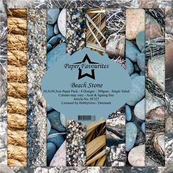 Sada papierov / Beach Stone / 12x12 / 8ks