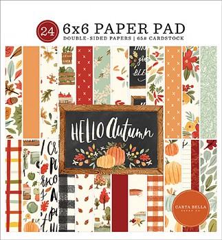 Hello Autumn / 6x6 / Sada papírů
