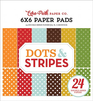 Fall Dots & Stripes / 6x6 / Sada papierov