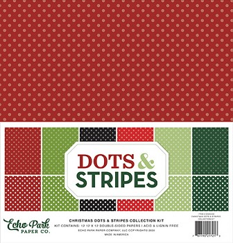 Christmas Dots & Stripes 12x12 / Sada papírů