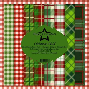 Sada papierov / Christmas Plaid / 12x12 / 8ks