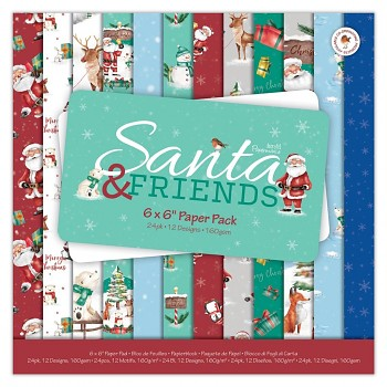 Santa and Friends / 6x6 / Sada papierov