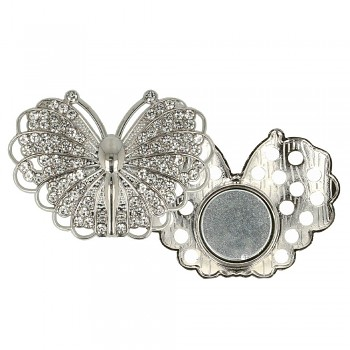 Decorative brooch megnetic butterfly 45mm