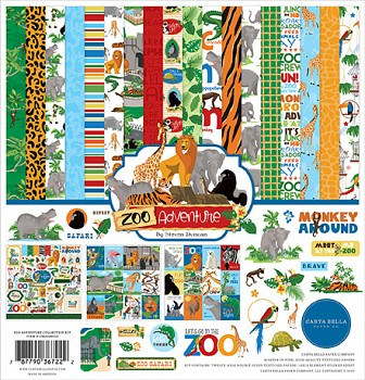 Zoo Adventure 12x12 / Sada papierov