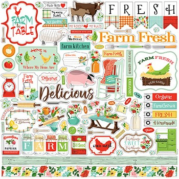 Farm To Table / 12x12 / Aufkleber