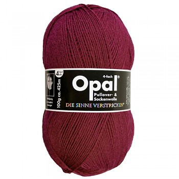Opal Uni 4-ply / 100g / 5196 burgund