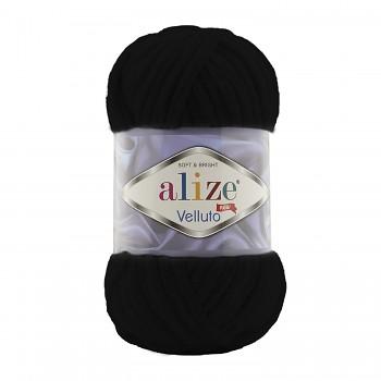 Alize Velluto / 100g - 68m / 60 black
